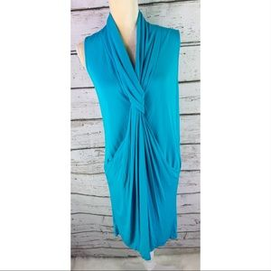 Diane Von Furstenberg Turquoise Sleeveless Dress